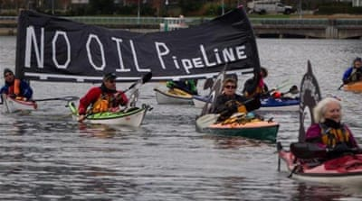 Most residents of British Columbia are against the Northern Gateway pipeline, writes Bolongaro [AP]