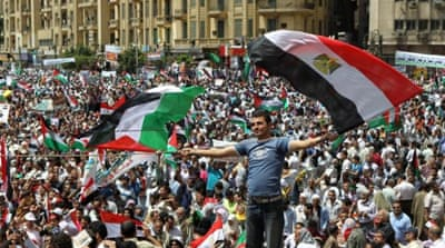 The Egyptian uprising was vocal about its support for Palestine, writes Al-Arian [AFP/Getty Images]