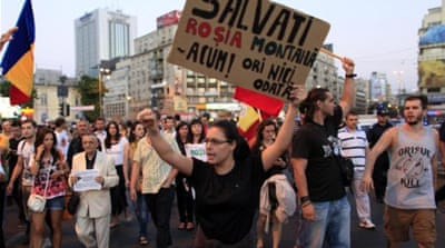 What happened to the protest movements in Romania and Bulgaria?