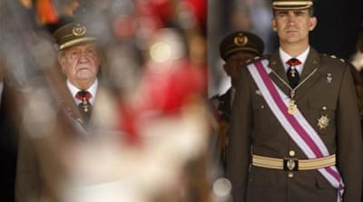 The Spanish monarchy's prestige has declined in recent years after a series of scandals [AP]