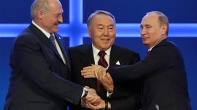 Russia, Belarus, and Kazakhstan have agreed on the creation of the Eurasian Economic Union [Getty]