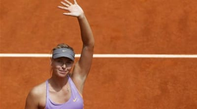 Sharapova has lost just one match on clay this season [AP]
