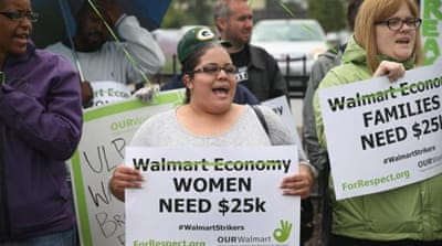 Walmart moms protest 'poverty' wages