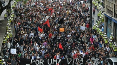 Protests in Brazil in 2013 were sparked by a spike in public transportation fares [AFP/Getty Images]