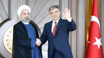 Gul and Rouhani said they supported peaceful nuclear energy programmes [AFP]
