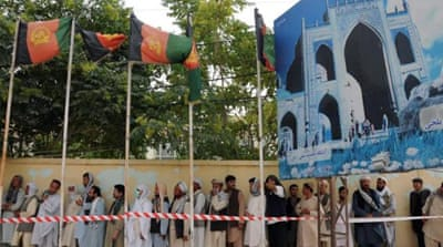 Afghan presidential candidate Ashraf Ghani  has defended himself against allegations of fraud [EPA]
