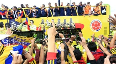 Colombia's football team performance in the World Cup has been applauded at home and abroad [Reuters]