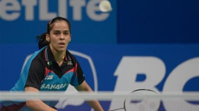 Nehwal won gold in the 2010 Commonwealth Games in New Delhi [AFP]