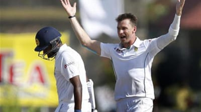 Steyn's five-over spell post tea bagged him three wickets for just eight runs [Reuters]