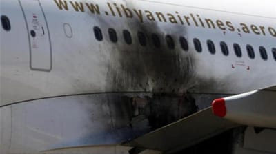 A number of planes were damaged and destroyed in clashes at the airport last week [Reuters]