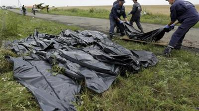 News agencies said all bodies were now off the crash site [Reuters]