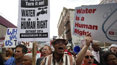 Water is a human right, but who is considered a human being?