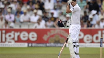 Cook has failed to reach three figures in his last 27 Test innings [REUTERS]