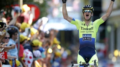 The stage-16 win was Rogers' first career Tour stage win [REUTERS]