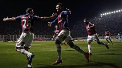 San Lorenzo had seven shots on targets as they scored off five of those [REUTERS]