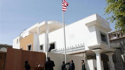 Decision marks second time in just over three years that Washington has closed its embassy in Libya  [AFP]