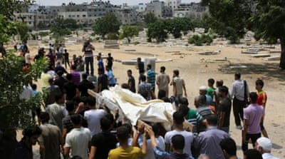 The Israeli attack on Gaza has killed 1000 Palestinians [EPA]
