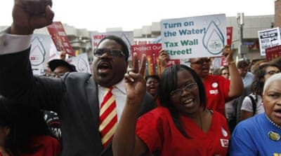 In March the Detroit Water and Sewage Department announced it will start cutting off water to households across the city [Getty Images]