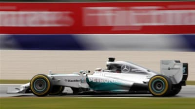 Hamilton is 29 points teammate Rosberg in the drivers' table [AP]