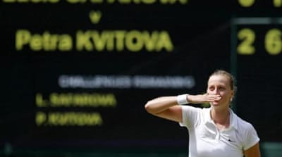 Kvitova has reached the Wimbledon quarter-finals five years in a row [REUTERS]