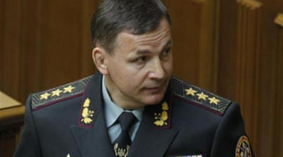 Colonel-General Valery Heletey is President Petro Poroshenko's new defence minister [Reuters]