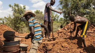 Many young men give up small-scale agriculture for risky jobs as artisanal gold miners [Reuters]