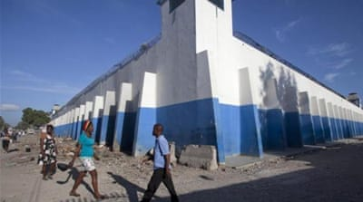The prison was built in 2012 to replace a prison devastated by the country's 2010 earthquake [AP]