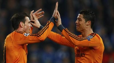 Bale (L) and Ronaldo cost Real Madrid in excess of $250 million [REUTERS]