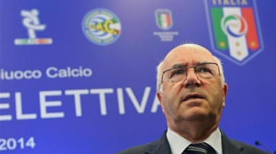 Tavecchio won 63.3% of the votes [REUTERS]