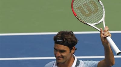 This was Federer's first match since losing the Rogers Cup final to Tsonga [REUTERS]