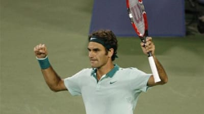 Federer will face Canadian fifth-seed Milos Raonic in the semis [Mark Zerof-USA TODAY Sports]