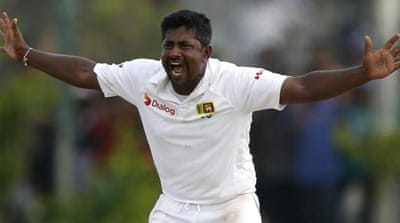 Herath became the first bowler in 12 years to take nine wickets in an innings [REUTERS]