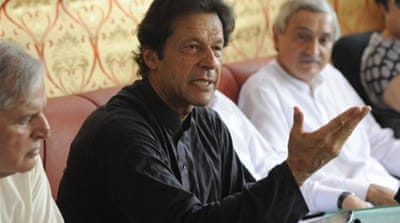 Khan has called for a campaign of civil disobedience [Reuters]
