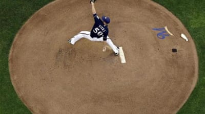 Fiers' effort helped the Brewers win their fifth straight game [AP]