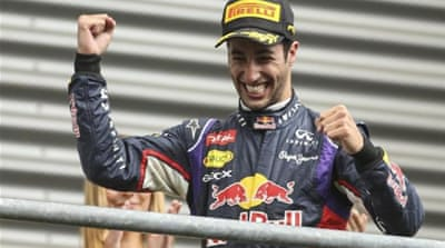 Ricciardo edged out Rosberg by 3.3 seconds [EPA]