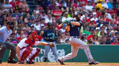 Ackley blasted the three-run home run for the Mariners [Getty Images]