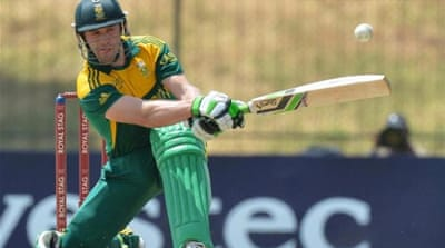 AB de Villiers was dropped twice en route his century [AFP]