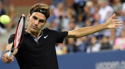 Federer will take on Sam goth in the second round [AFP]
