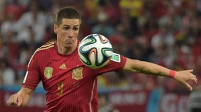 Torres was left out of Spain's World Cup squad [AFP]