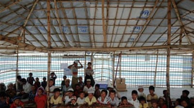 The school in Sittwe faces excessive overcrowding, with up to 90 children in each classroom [Reuters]