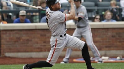 Pence third-inning, two-run home run was key in the Giants' huge win [AP]
