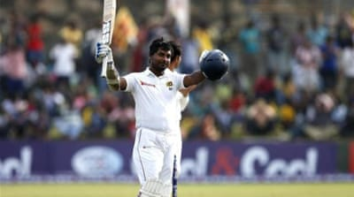 Sangakkara now sits second behind Bradman on the list of most double centuries in Tests [REUTERS]