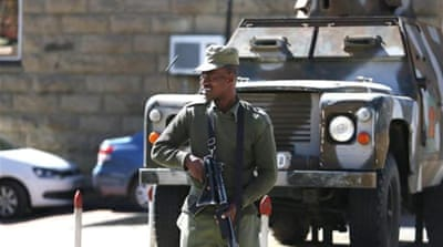 Lesotho troops seized control of several police stations and jammed radio stations in the capital on Saturday [AFP]
