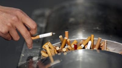 Just under half of all South Korean adult males smoke, government data shows [Reuters]