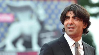 Turkish director Fatih Akin arrives for the screening of the movie 'The Cut' at the Venice Film Festival [AFP]