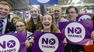 Scotland voters reject independence