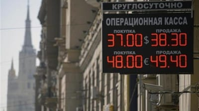 Western sanctions hit Russia's economy