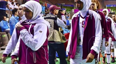 The wearing of hijabs has become a big topic in sport in recent years [Reuters]