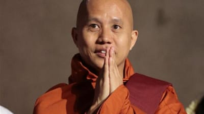 Wirathu told the crowd in Colombo that the patience of Buddhists is seen as a weakness [AFP]
