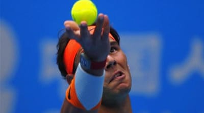 Nadal had lost his opening doubles game yesterday [REUTERS]